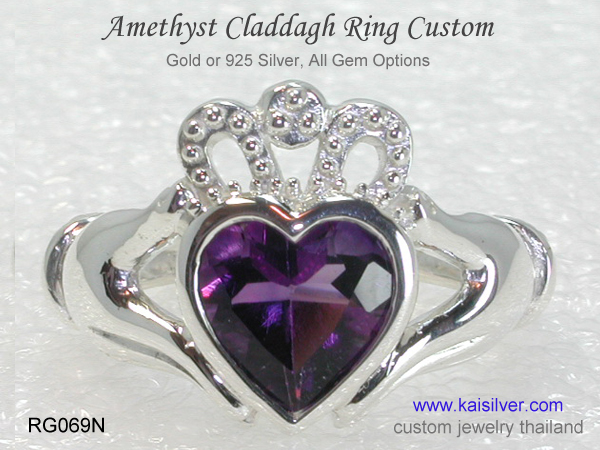 claddagh amethyst ring